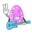 with guitar eggs easter holiday character for vector image