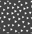 geometric pattern with white triangles seamless vector image