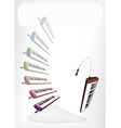 Colorful Musical Melodica with A White Banner vector image