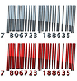 3d abstract barcodes vector image vector image