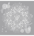 Abstract grey background with a round mandala vector image vector image