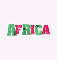 africa concept stamped word art vector image vector image