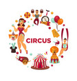 amazing show at famous great circus promo poster vector image vector image