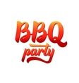 bbq party logo barbecue text lettering label vector image vector image