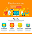 bitcoin cryptocurrency web design vector image vector image