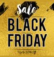 black friday sale banner on golden luxury vector image vector image