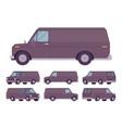 black van set vector image