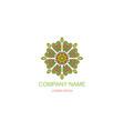 business logo emblem floral oriental logo green vector image