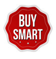 buy smart label or sticker vector image vector image