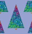 christmas trees pattern happy new year seamless vector image vector image