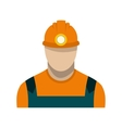 Coal miner flat icon vector image