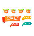 collection of special offer tag for webpage vector image