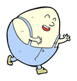 Comic cartoon humpty dumpty egg character vector image