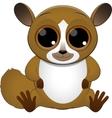 cute baby lemur vector image vector image