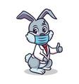 cute doctor bunny mascot design vector image vector image