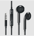 earphone black vector image