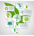 Ecology and energy paper bubbles infographic vector image