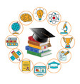 education and learning banner vector image vector image