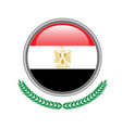 egypt flag button egypt flag icon of egypt flag vector image