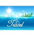 Enjoy Travel poster Summer vacation banner vector image vector image