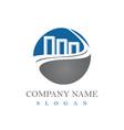 financial logotype vector image