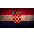 Flag of Croatia with old texture vector image