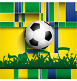 Football soccer crowd on an abstract background vector image vector image