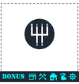 Gear shifter icon flat vector image vector image