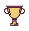 golden trophy cup with maroon outline isolated vector image vector image