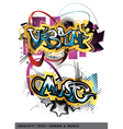 graffiti text vector image vector image