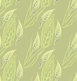 Green seamless pattern with ears of wheat vector image
