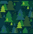green xmas geometry abstract pattern vector image vector image