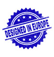 grunge textured designed in europe stamp seal vector image