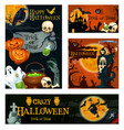 halloween holiday trick or treat night banner vector image vector image