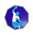 handball player jump aiming shot vector image vector image