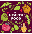 Health food vector image