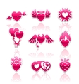 Heart collection Love icons vector image