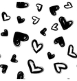 Heart dry brush seamless modern pattern vector image vector image