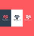 heart logo design line vector image