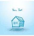 House house plan on a blue background Building vector image vector image