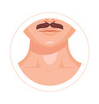 human throat collarbone lips nose and mustache vector image