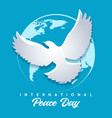international day peace emblem vector image