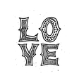 love typographic poster vector image vector image
