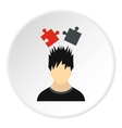 Male avatar and jigsaw puzzles icon flat style vector image vector image