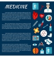 Medicine design template with first aid symbols vector image vector image