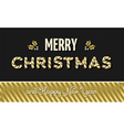 Merry christmas and new year gold text design vector image