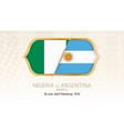 nigeria vs argentina group d football vector image vector image