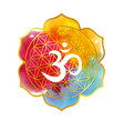 on the theme of yoga with mandala and vector image vector image