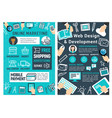 online marketing web design and development card vector image vector image