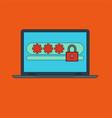 password notification security login icon vector image